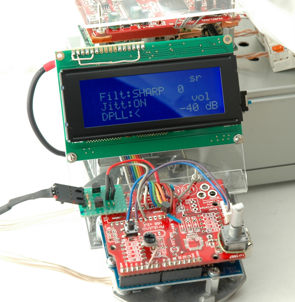 Arduino Audio Controller H I F D U N O Rotary Encoder Display Schematic